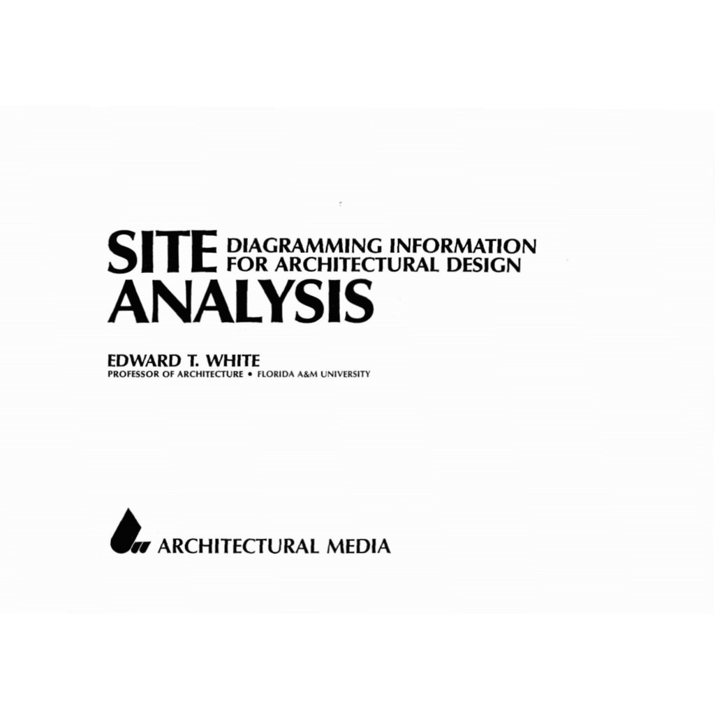 Pdf Site Analysis Diagramming Information For Architectural Design Shopee Malaysia