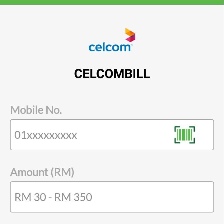 Bayaran Bill Celcom Pay Bill Celcom Online Shopee Malaysia
