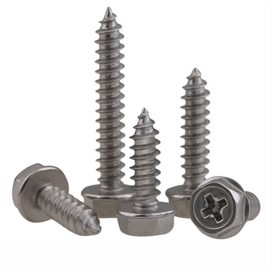 304 Stainless Steel Button Head Cap Self Tapping Sheet Metal Screws M3 M4 M5 M6