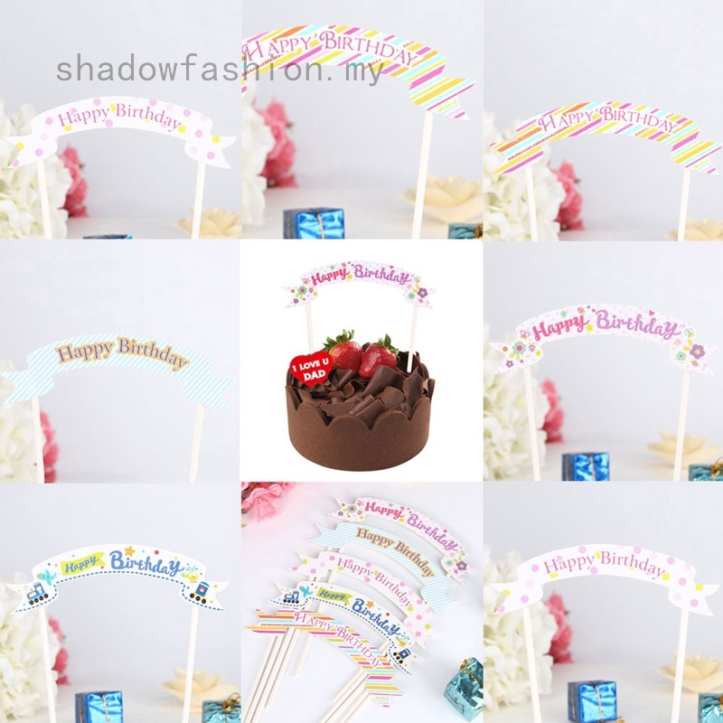 Groovy Happy Birthday Cake Bunting Banner Flag Party Decor Gift Shopee Birthday Cards Printable Opercafe Filternl