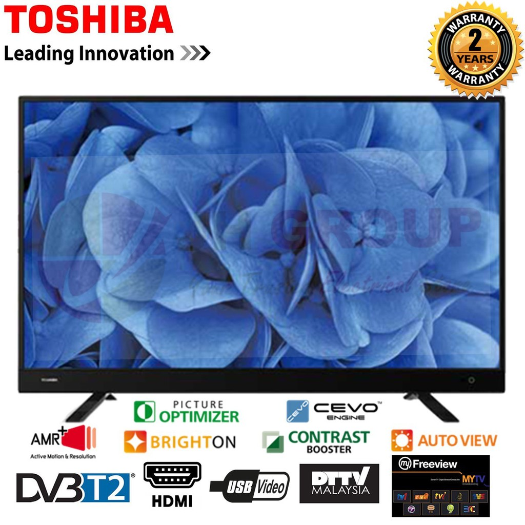 """TOSHIBA 40L3750VM 40"""" DVB-T/T2 FULL HD LED TV MYTV MYFREEVIEW SUPPORTED"""