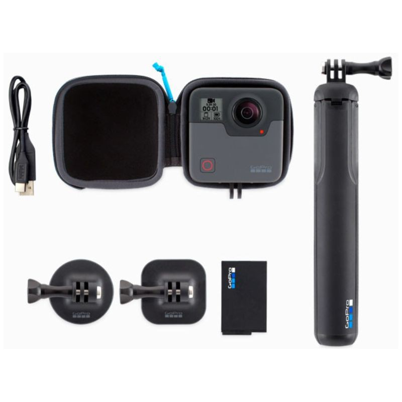 GoPro Fusion 360 Camera (FREE Silicone Case + Lens Cover)