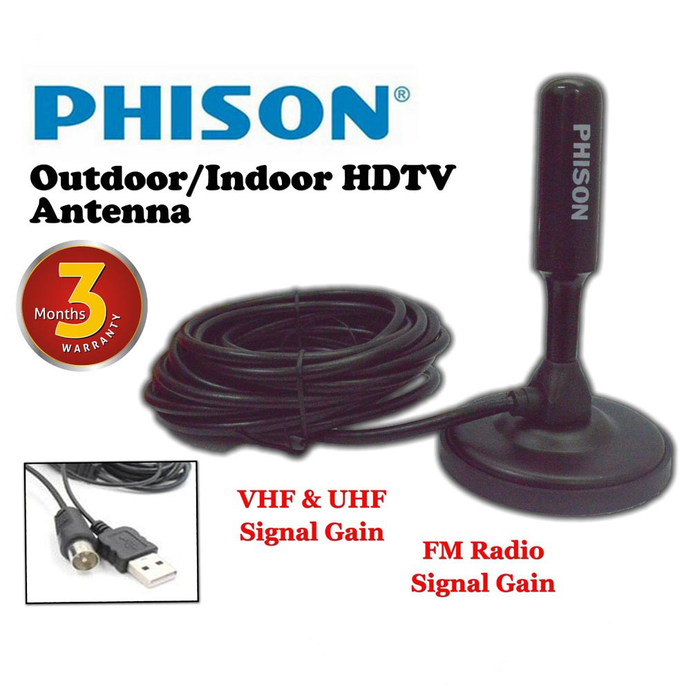 ANTENNA UHF INDOOR WITH AMPLIFIER BOOSTER DIGITAL ANTENA