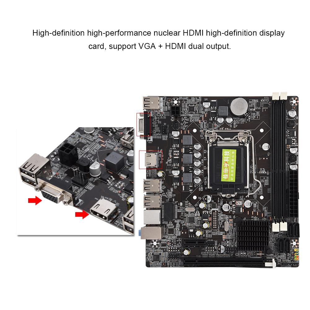 Support 4 Motherboard H61 USB2 Solid State DDR3 Model
