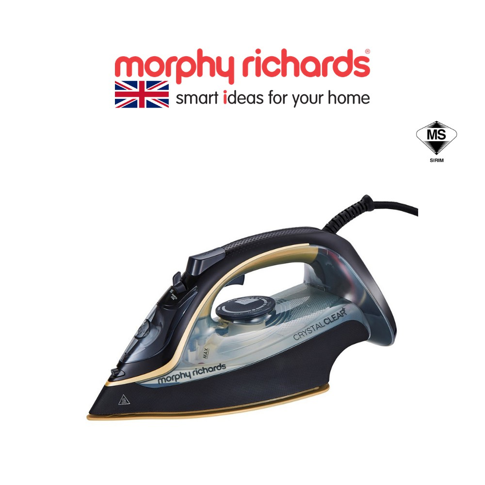 [NEW ARRIVAL] Morphy Richard Steam Iron – Crystal Clear with Gold 300302