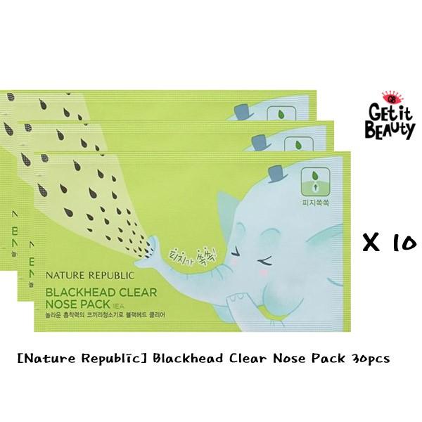 Nature Republic Blackhead Clear Nose Pack 30pcs K Beauty Shopee