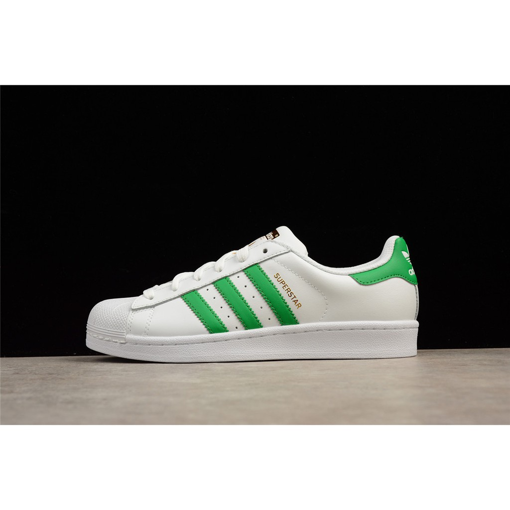 new photos 234fa 4517b Adidas Superstar clover green gold standard shell head shoes BY3715