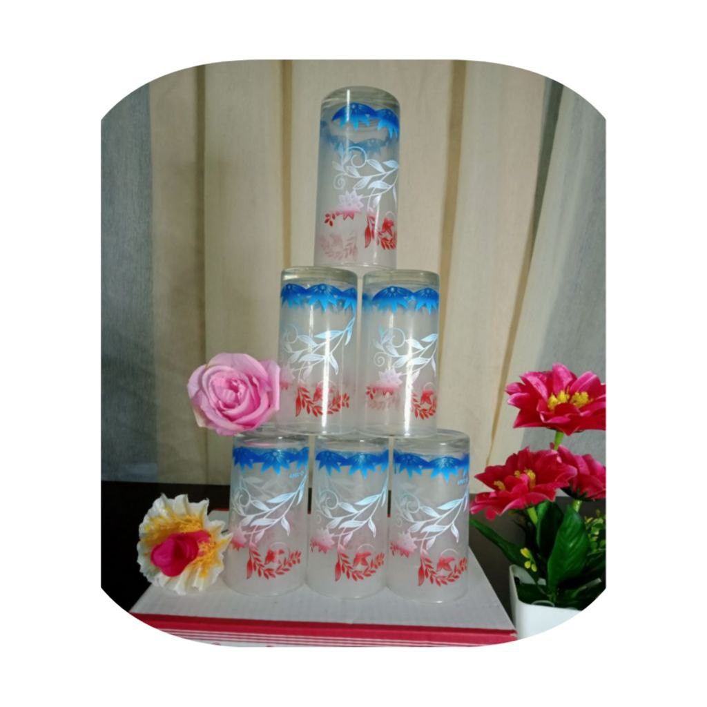 SET GLASS 6 IN 1 VIRAL | SET GELAS BERKUALITI DAN MURAH| ANNARI 08