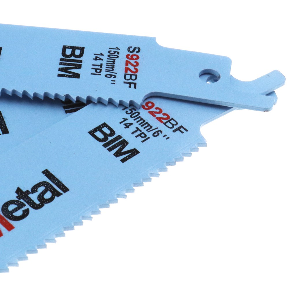 """10pcs S922BF 150mm 6/"""" Blue Reciprocating Sabre Saw Blades for Metal Cutting New"""