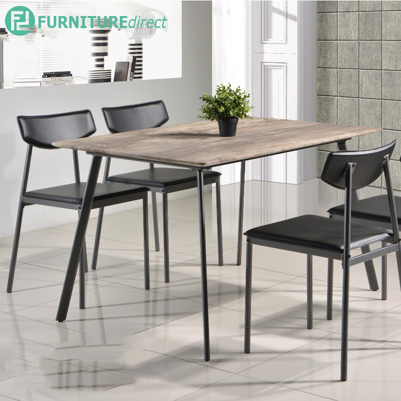 Furniture Direct Sapphire industrial scratch proof table top 4 seater dining set
