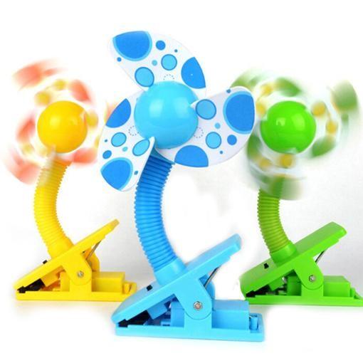 (Ready Stock) Safety Colourful Portable Clip Fan Baby Stroller Fan