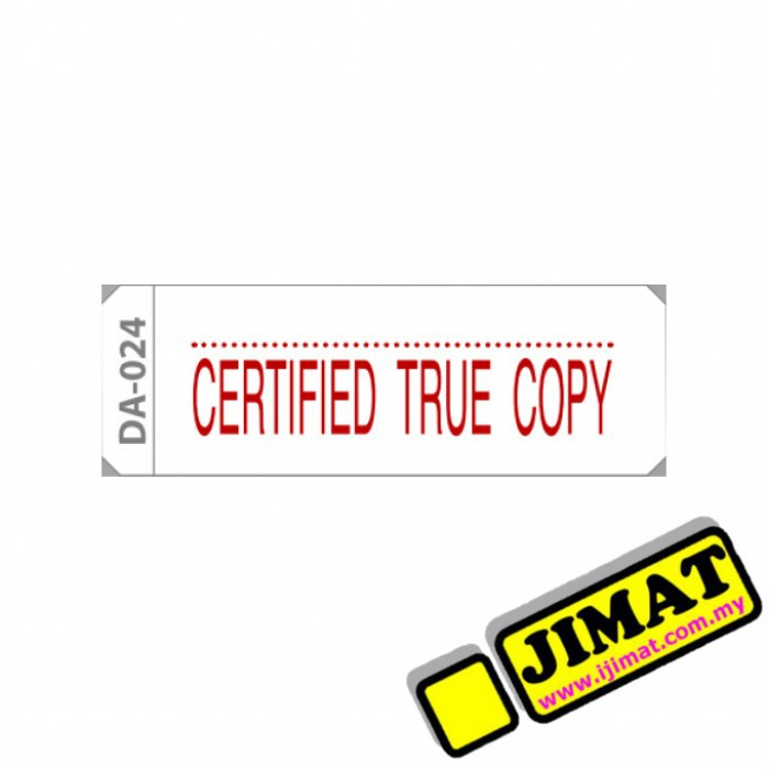 Certified True Copy Ae Ready Made Stamp Ready Made Chop Stock Stamp Da 021
