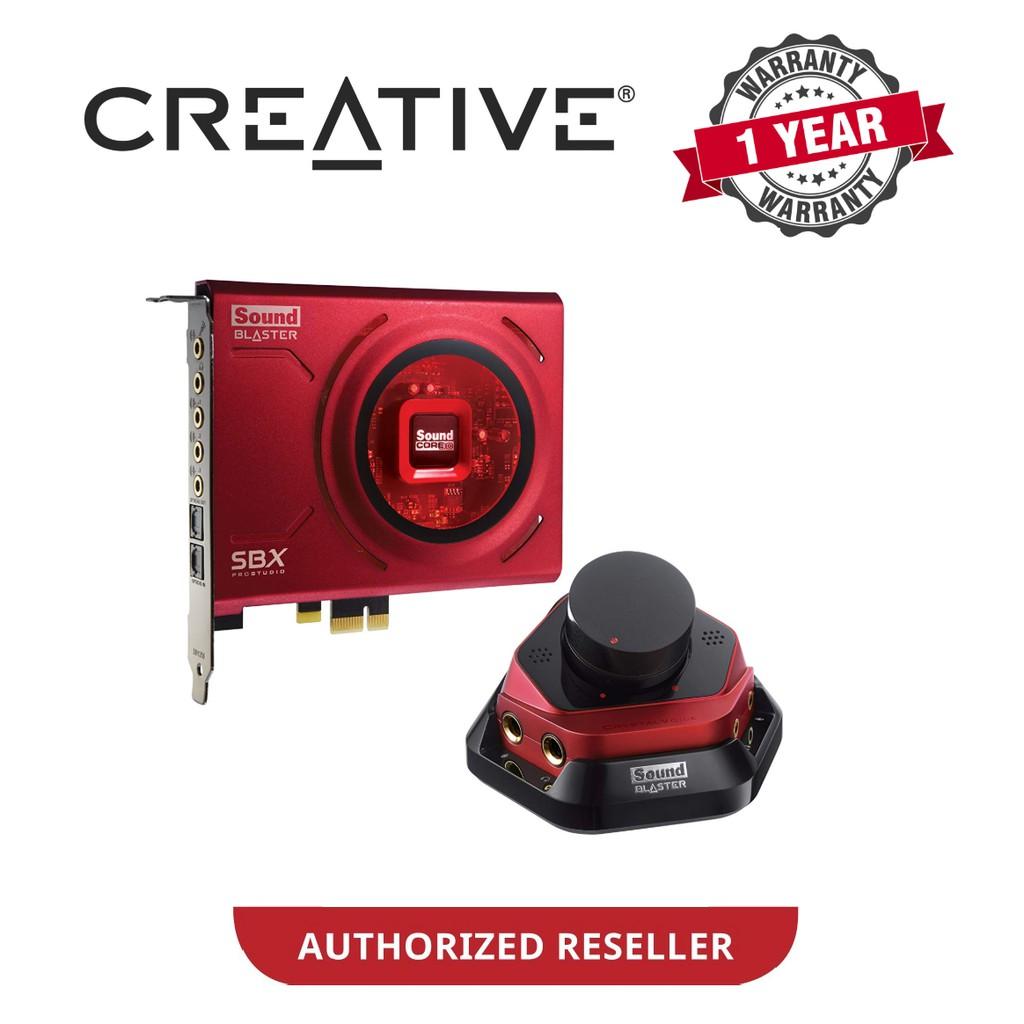 Creative SB1506 Sound Blaster ZX SBX PCI-E Gaming Sound Card + Audio  Control Module
