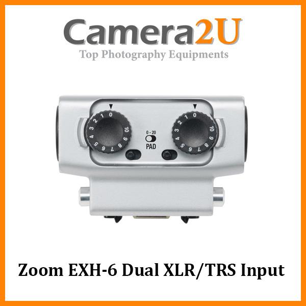 Zoom EXH-6 Dual XLR/TRS Input Capsule for Zoom H5 H6 U-44 F4 F8 EXH6
