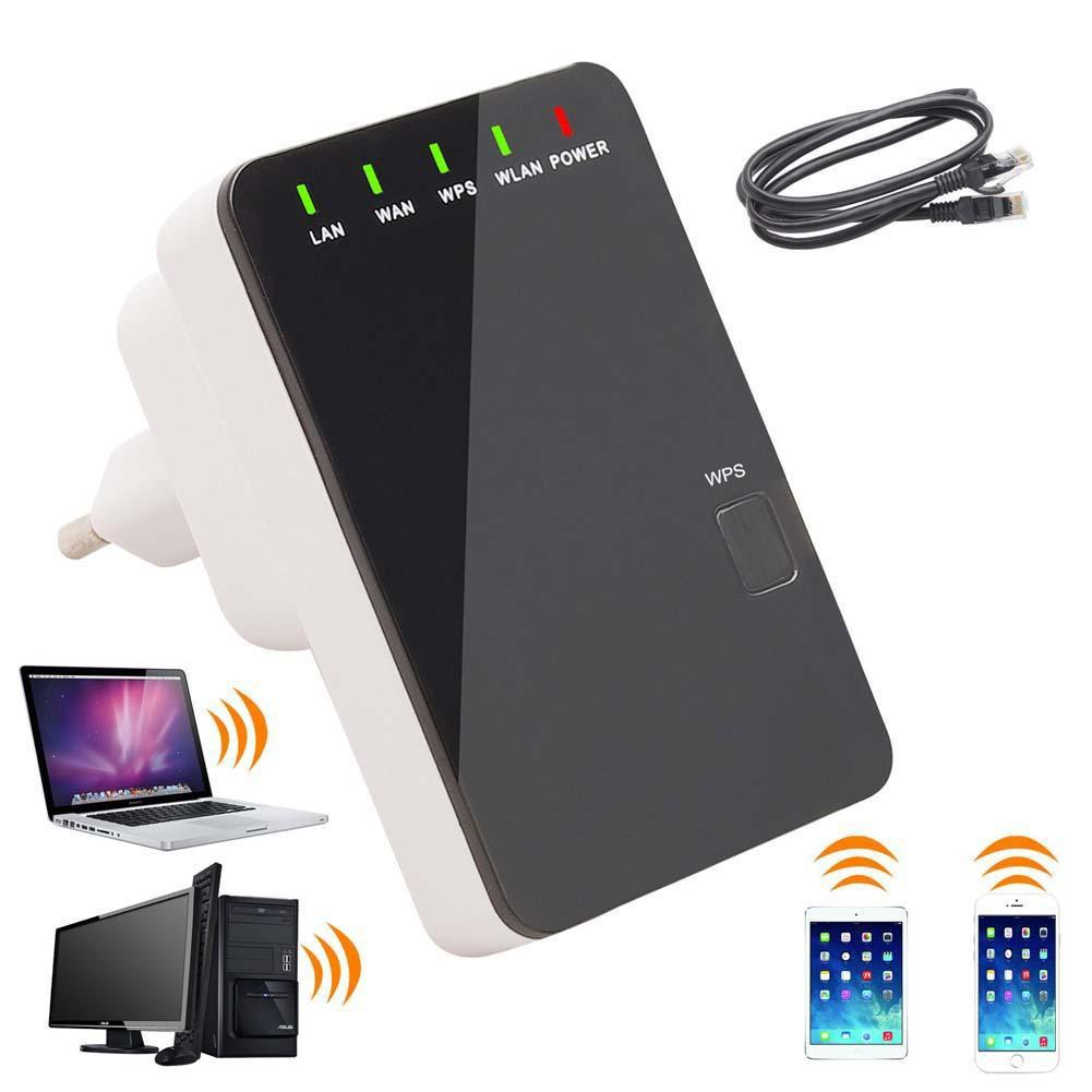 Wireless 5in1 Repeater Mini Router WPS Wifi WLAN 300 Mbit Hotspot LAN CE WAN UP