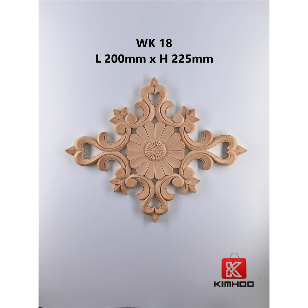 Wood Carving Applique Decal WK18