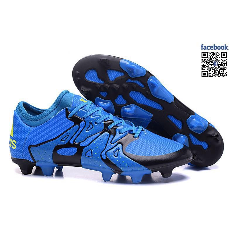 Zapatos Adidas Football Boots X 15.1 Zapatos FG AG fútbol Azul Negro Soccer S5