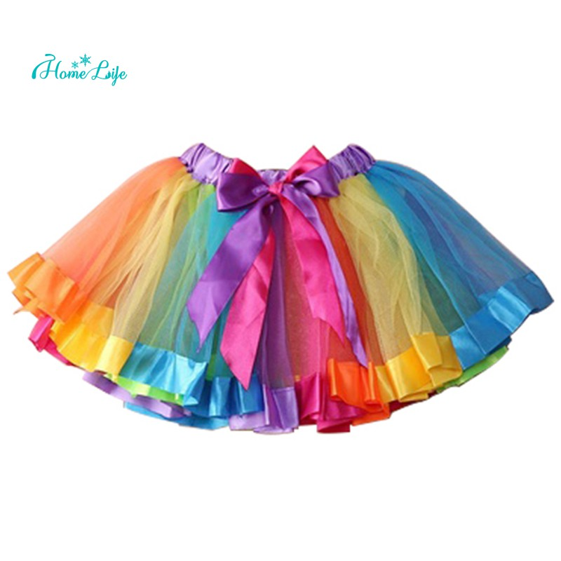 273553423e ProductImage. ProductImage. Kids Lovely Handmade Colorful Tutu Skirt Girls  Rainbow ...