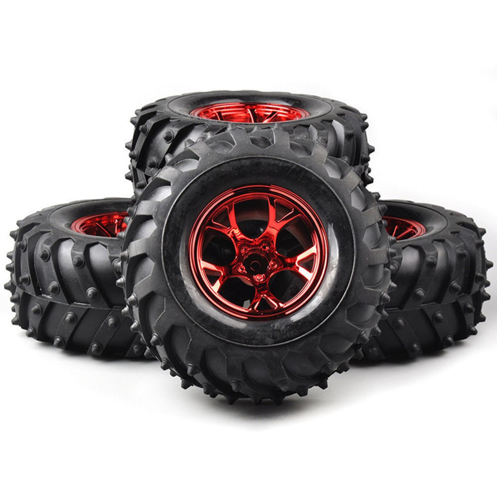 Wheel Rims Tyre Tires F Hsp Hpi Rc 1 10 Bigfoot Monster Truck Car 12mm Hex Shopee Malaysia