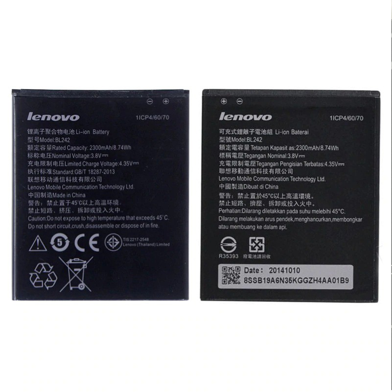 Lenovo BL242 A6000 Battery (2300mAh) A6000