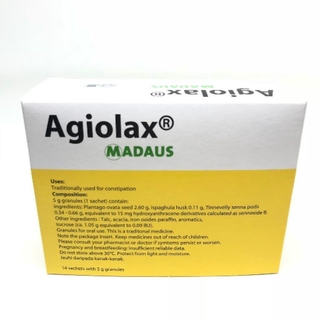 Agiolax Madaus 14 Sachets with 5g granules Plant based product for Constipation