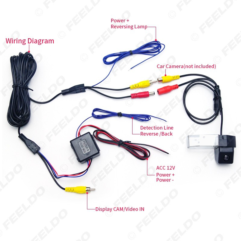 Backup Camera Wiring Diagram 5 Wire from cf.shopee.com.my