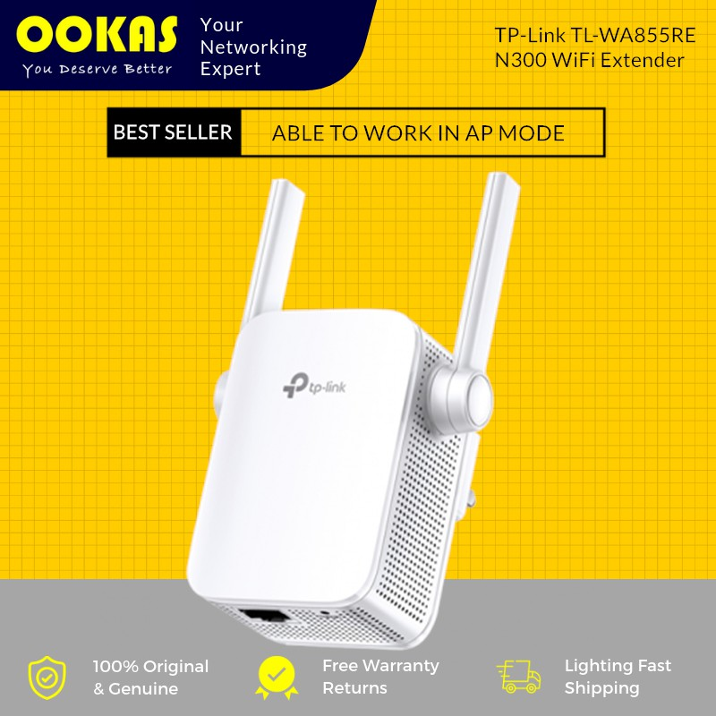 TP-LINK TL-WA855RE Wireless WiFi Repeater Range Extender Booster with AP  Mode