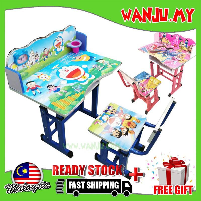Baby Disney Cartoon Study Table And Chair Kid Set With Theme Meja Belajar Wanju My Shopee Malaysia