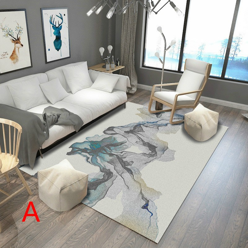 QFOAE Karpet Carpets Rug Small Size Anti-slip paint abstract style for you