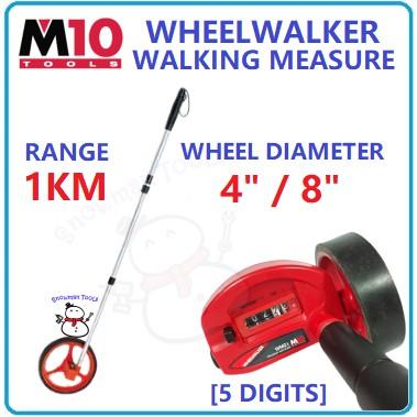M10 1KM WHEELWALKER WALKING MEASURE ROLL 5 DIGITS  MEASURE TONGKAT RODA UKUR JALAN WALK MEASURER ROAD MEASURING JALAN