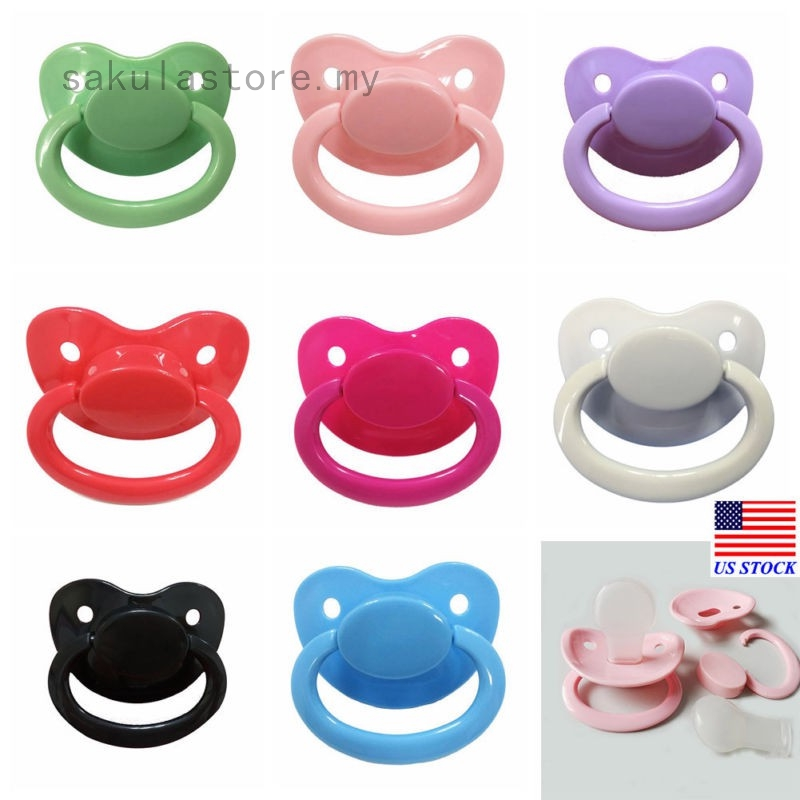 Big Adult Nibbler Pacifier Feeding Nipples Adult Sized Design with Back Cover UP