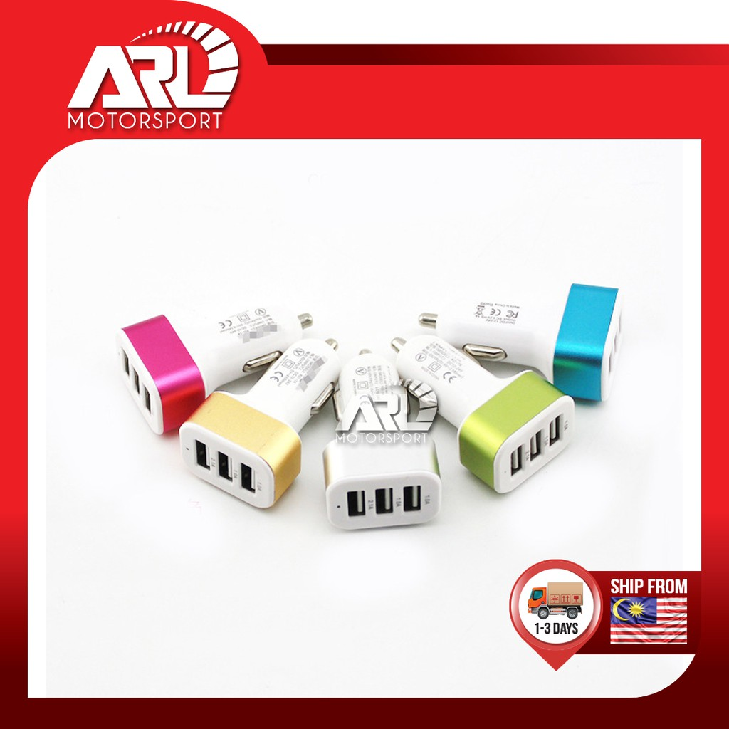 Car 3 Port USB Charge Car Auto Acccessories ARL Motorsport