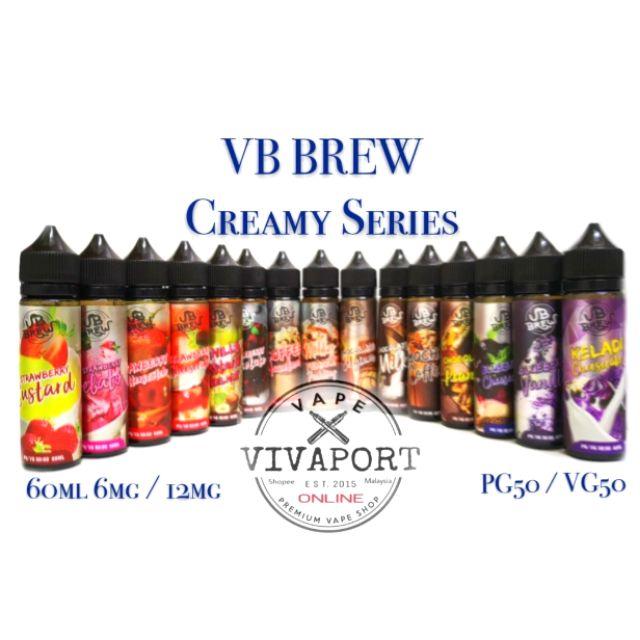 VB Brew Creamy Series Keladi Cheesecake /Strawberry Chocolate Coffee 60ml  6/12m