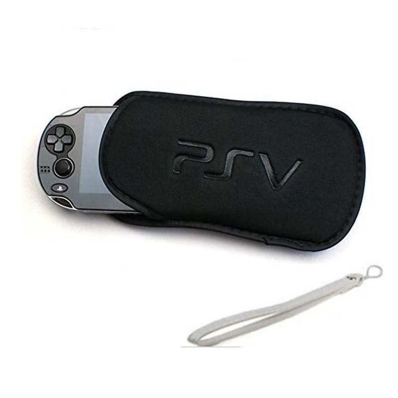 Sony PS Vita 1000 PSV 2000 Soft Travel Carry Case Bag Pouch Black (i-A)