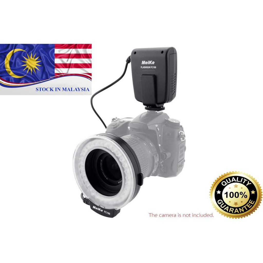 MeiKe FC100 LED Macro Ring Flash FC100 for Canon Nikon Camera DSLR (Ready Stock In Malaysia)