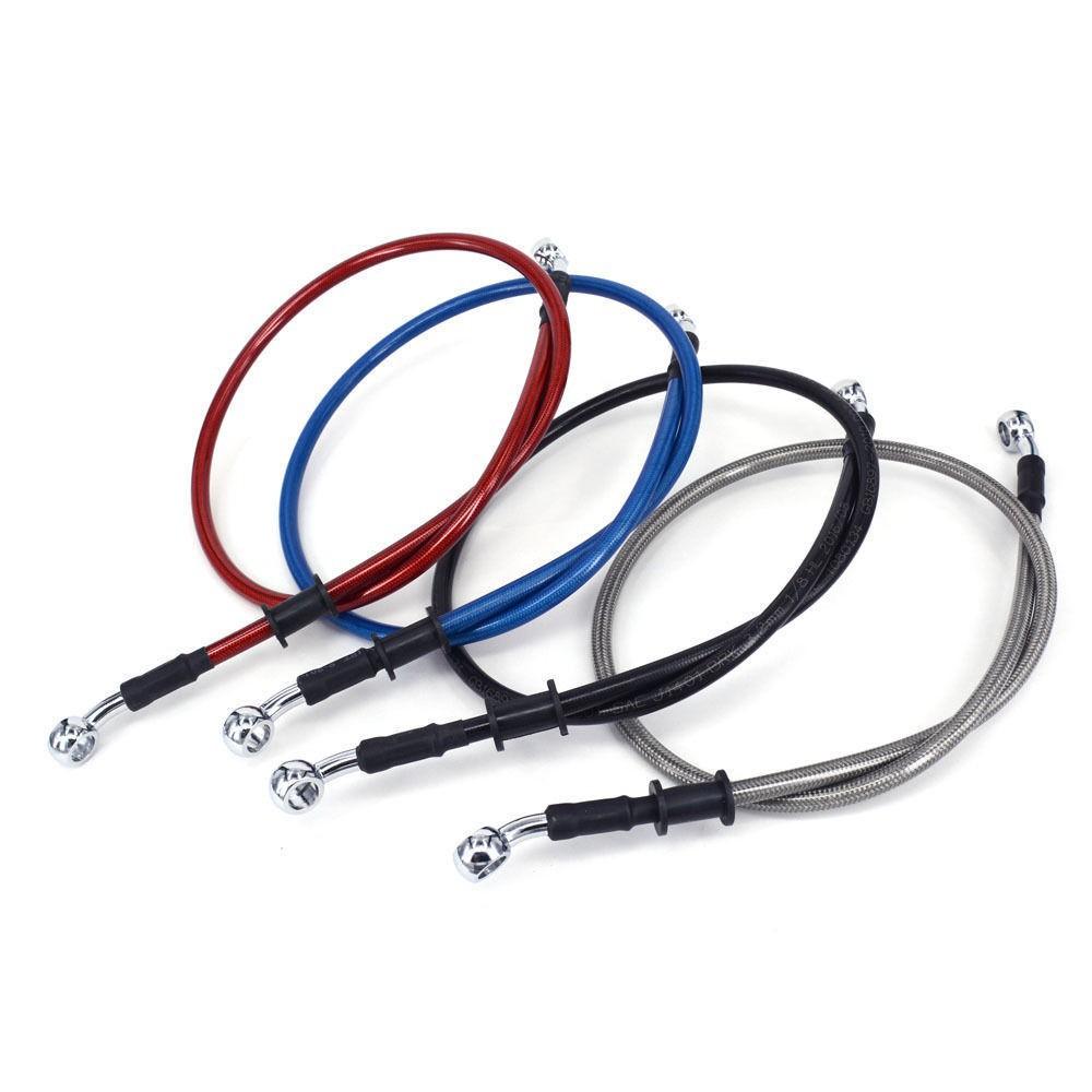 90cm//35.43 Brake Fuel Oil Hose Line Pipe Braided for Banjo Motorcycle Universal