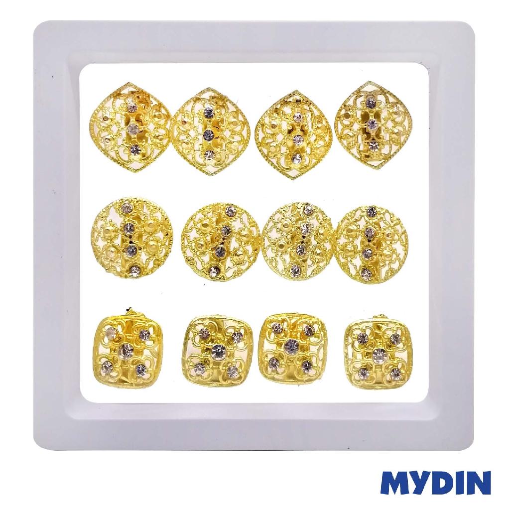 Assorted Design Brooch Tini Mini Matgold (12 Pcs) - #Raya