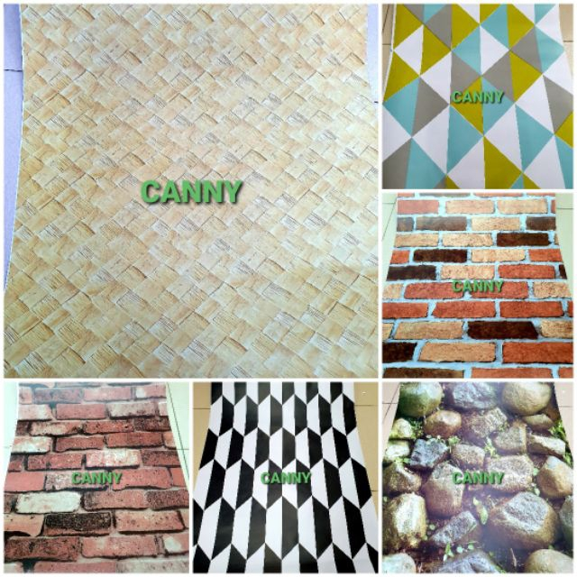 Ready stok Design 2020 Wallpaper 3D 45cm x 10 Meters / Latest Design 3D Wallpaper Batu Tikar 45cm x 10 Meters