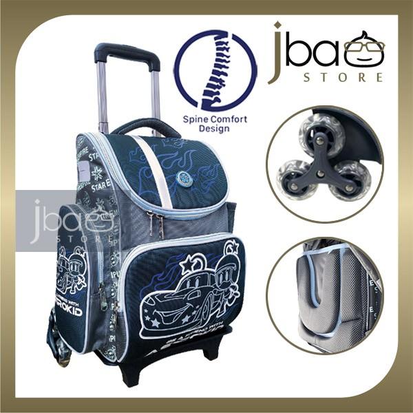 2020 Astrokid 6 Wheels Kid Trolley School Bag Astrokids 3D Foam Cushion Backpack Spine Comfort design R-801975-NV Cars