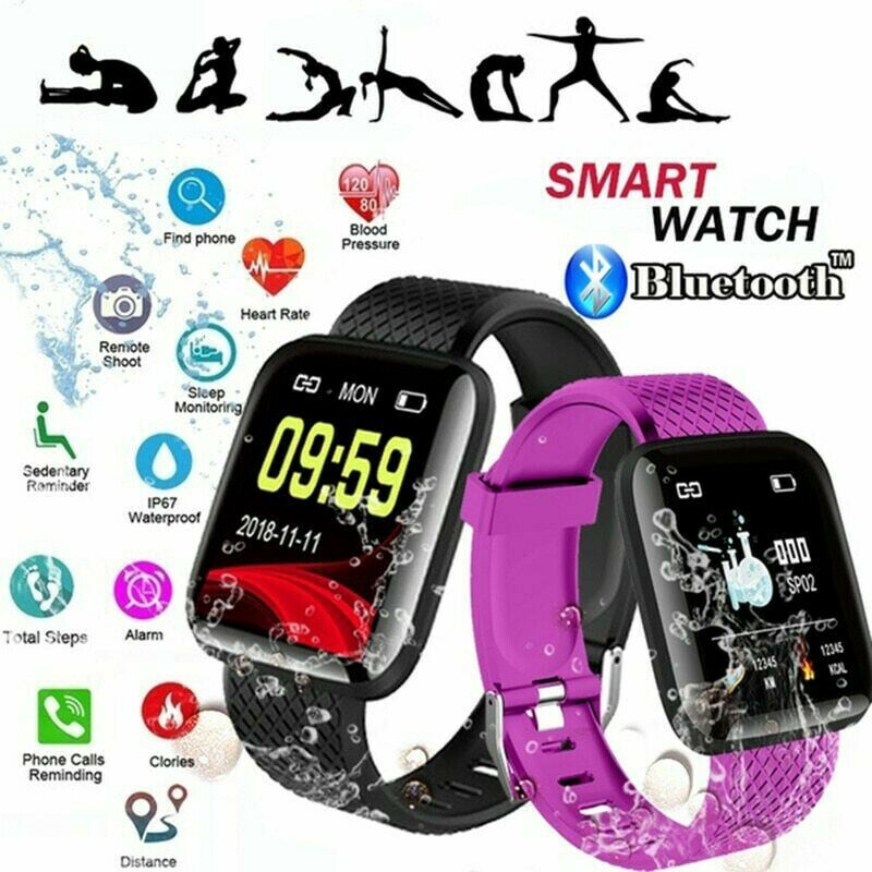 Details about 116 PLUS Smart Bracelet D13 Heart Rate Blood Pressure Waterproof Smart Watch