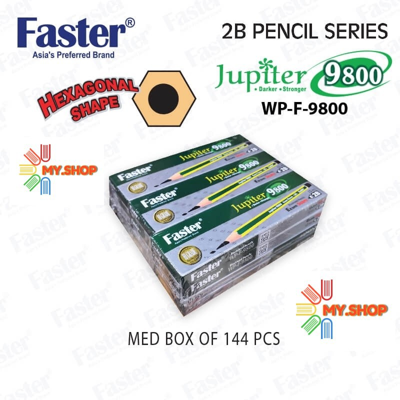 Faster WP-F-9800 Jupiter 2B Pencil (12 pcs/box)