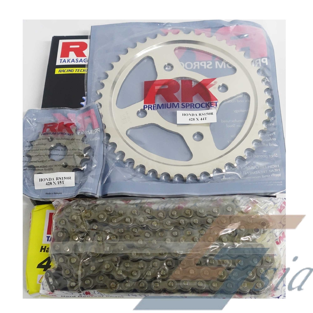 Honda RS150R RK Chain & Sprocket Set (428HSB X 120L/15/44)