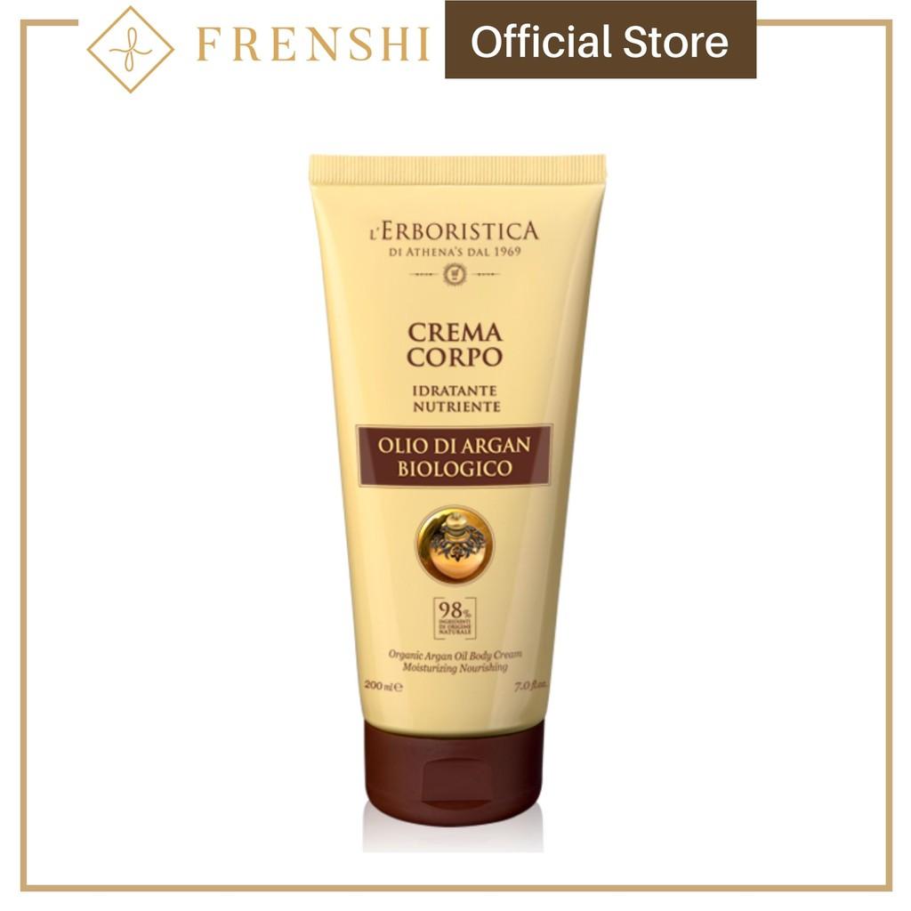 Frenshi L'Erboristica Argan Oil (Made in Italy) - BODY CREAM WITH VITAMIN E AND ARGAN OIL 200ML
