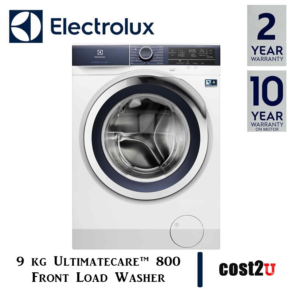 ELECTROLUX 9KG ULTIMATECARE™ 800 FRONT LOAD WASHER WITH SENSORWASH™ TECHNOLOGY | EWF9023BDWA