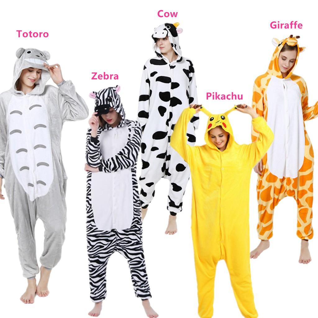 Unisex Adult Pajamas Cosplay Costume Animal one piece sleepwear Suit Summer 11