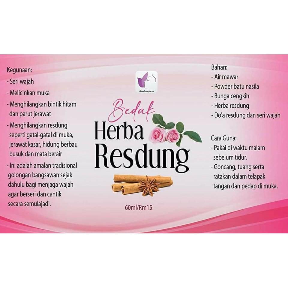 New Bedak Herba Resdung Jerawat Gatal Resdung Shopee Malaysia