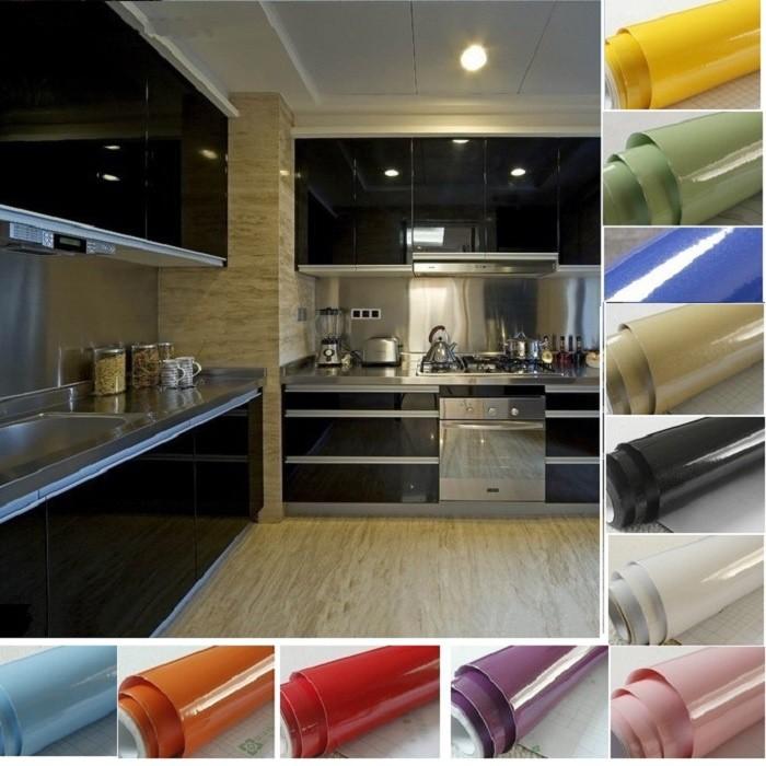 Waterproof Kitchen Cabinet Furniture Self Adhesive Vinyl Wallpaper Sticker Films Shopee Malaysia