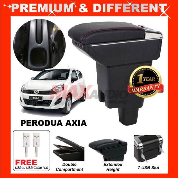 [FREE GIFT Gift] PERODUA AXIA COMFORT ADJUSTABLE ARMREST 7 USB PORT