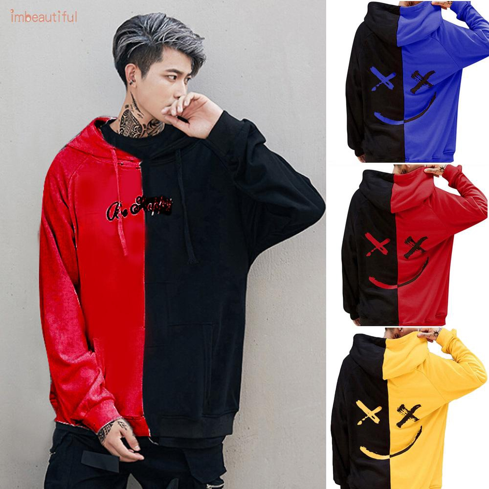 MENS PULL OVER DRAGON PRINTED HOODED FASHION SWEAT SHIRT IN 2XL-9XL,2 COLORS