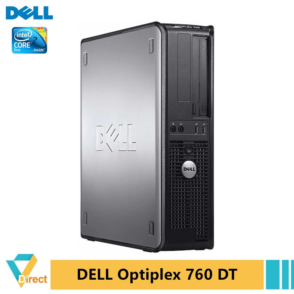 Up to 4GB 240GB SSD Dell Optiplex 760 DT desktop PC + 17
